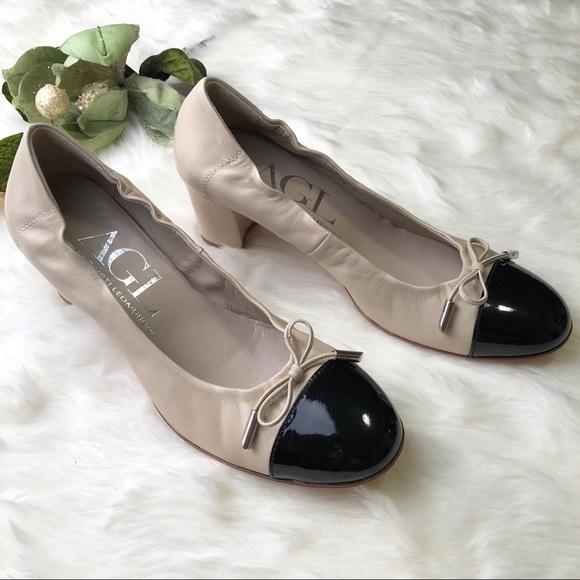 f05d12db4d7f Agl Shoes - AGL Attilio Giusti Leombruni Cap Toe Bow Pumps